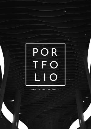 Design de modèle de portfolio moderne d'architecte