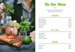 Modelo e Design de Menu de Bebidas e Bar