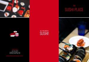 Sushi Restaurant Driebladige brochure Sjabloon