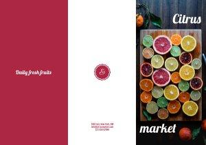 Fruitmarkt Driebladige Brochure Sjabloon