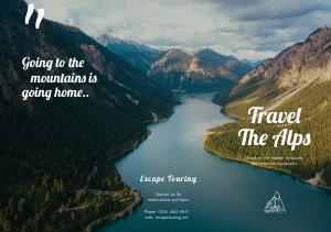 Alpine/ Bergreizen Driebladige Brochure Sjabloon