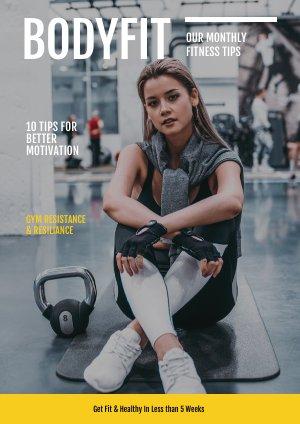 Fitness Tijdschrift Sjabloon