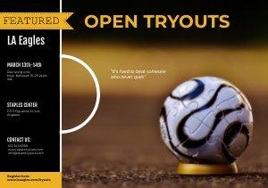 Sport & Football Tryout Flyer Sjabloon