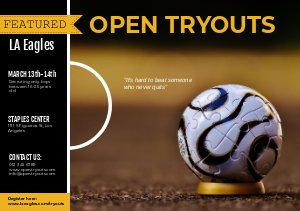 Sport & Football Tryout-Flyervorlage