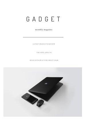 Plantilla minimalista para revista de accesorios