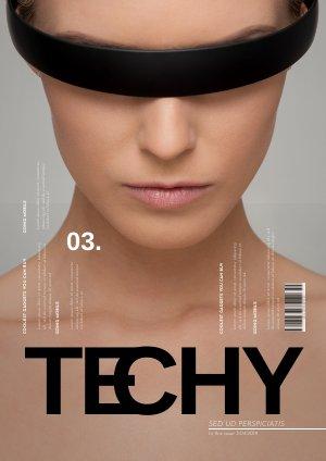 Plantilla creativa para revista tecnológica