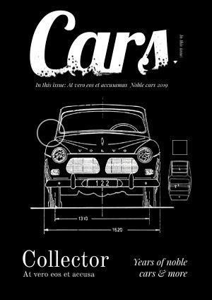 Plantilla y diseño para revista automovilística