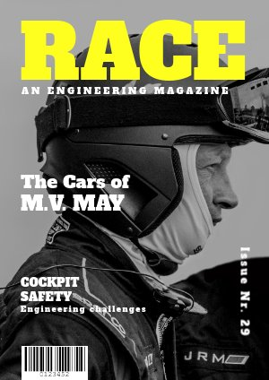 Plantilla para revista de carreras de autos