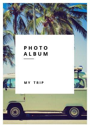 Modello per album fotografico di viaggio