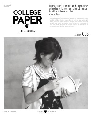Modello moderno per giornale universitario