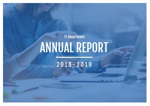 Blue Annual Report Template