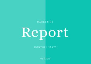 Monthly Marketing Report Template