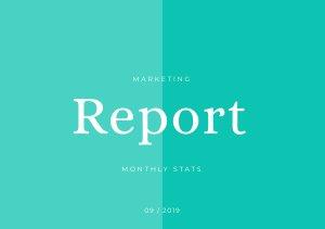 Modello di report mensile per il marketing