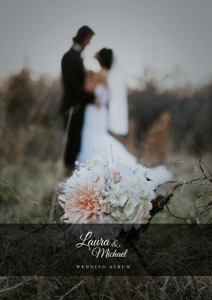 Minimalistisch Bruiloft fotoboek Sjabloon
