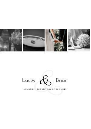 Modern Bruiloft fotoalbum Sjabloon