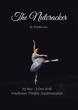Design de flyer dance de ballet