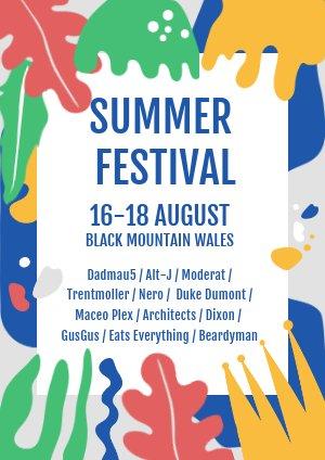 Sommerfestival Flyer Beispiel