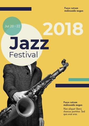 Jazz-Musik Flyer Design