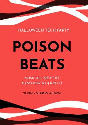 Halloween feest Flyer Voorbeeld