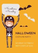 Halloween Costume Party Flyer Design