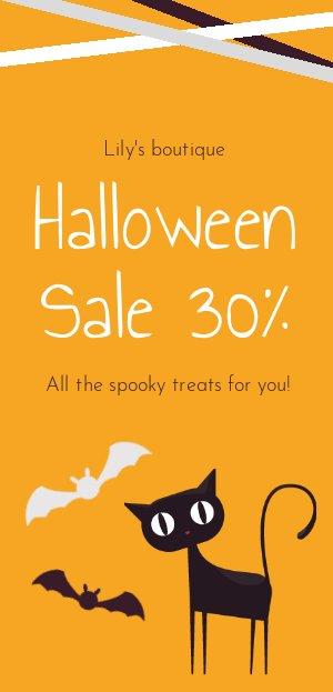 Ejemplo para volante de ofertas de Halloween