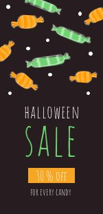 Halloween Candy Sale Flyer Design