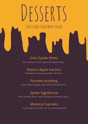 Diseño para menú de postres creativos