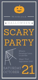 Halloween Scary Party Invitation Design