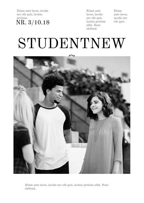 Design per giornale studentesco