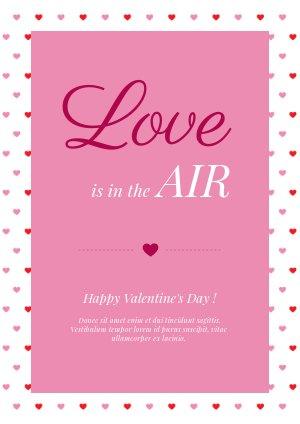 Design de carte pour la Saint Valentin