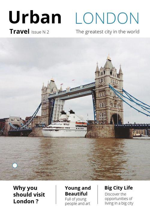 Exemple de brochure pour voyage en ville