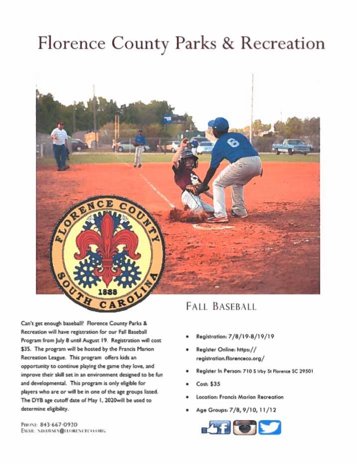 Baseball - Athletics Information - Parks and Recreation - Offices