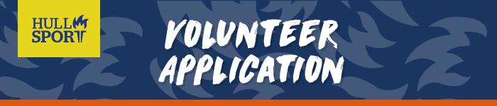 Hull Sport Volunteer Application Header Image