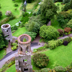 blarney castle from above