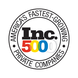 Inc 5000 one of America's fastest growing companies 4 years in a row