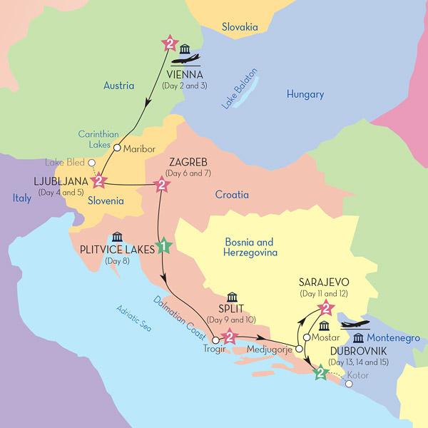 Great Capitals  The Dalmatian Riviera  Fox World Travel