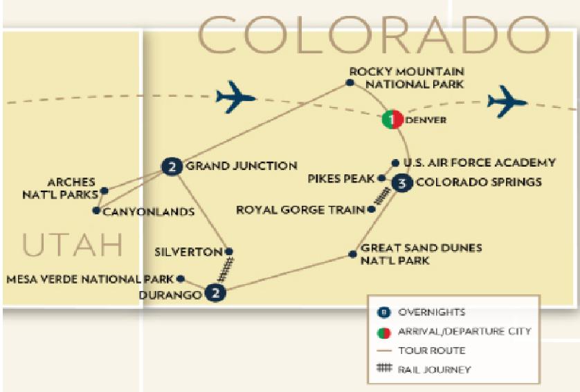 Rockies On World Map.Colorado Rockies Rails And Parks Fox World Travel
