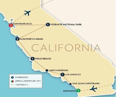 California Coast and Yosemite National Park Tour | Fox World Travel