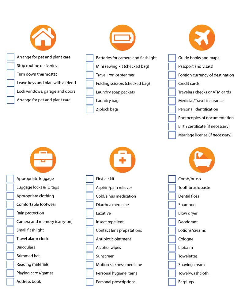 travel checklist fox world travel