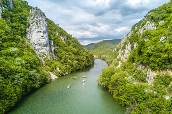 Decebal's Head - Danube River