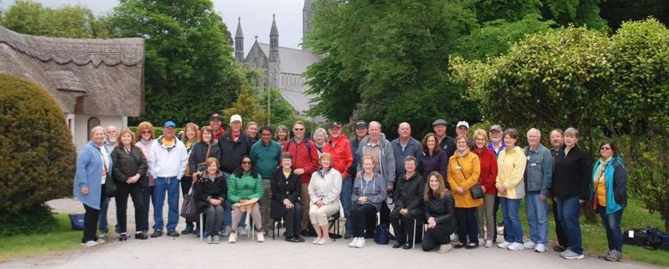 Group tour visiting Ireland