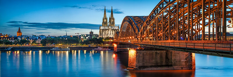 Rhine River Cruise through Cologne, Germany
