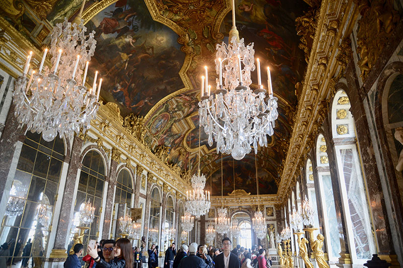 The Palace of Versailles (Château de Versailles) in Europe