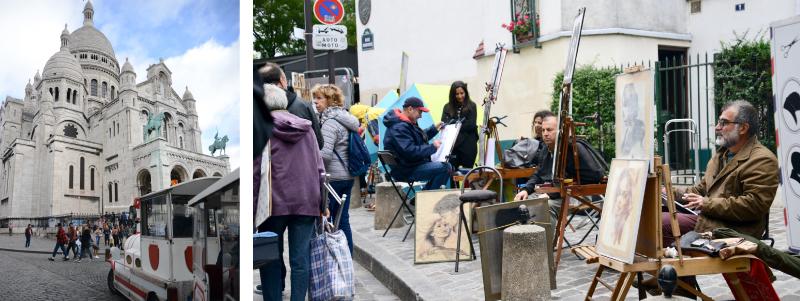 Bohemian Quarter of Montamarte in Europe