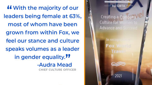Fox Awarded WINIT by GBTA for Creating a Company Culture for Women