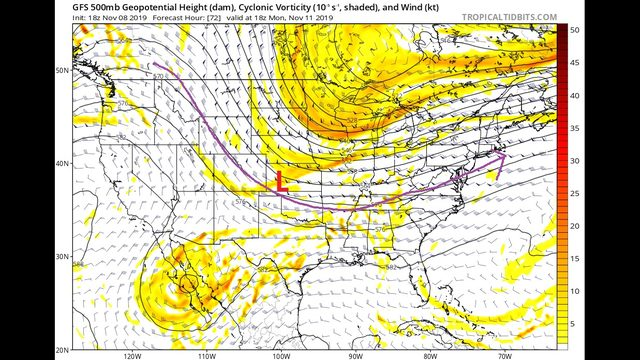 Friday Night Blog:  Warming up, but storm system on Sunday