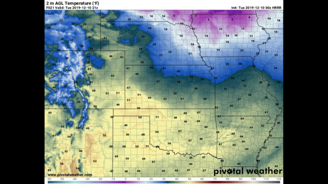 Monday Evening December 9th – Sun returns for Tuesday