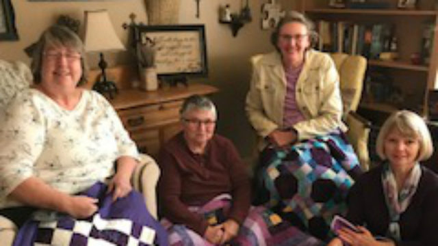 Monroe woman makes quilts for pancreatic cancer patients in her community