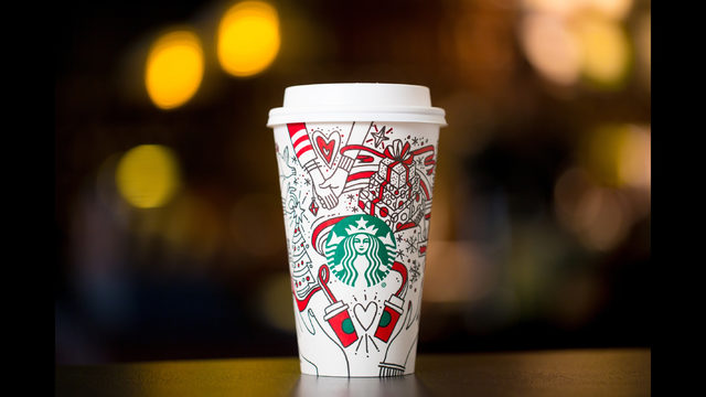 Bust out the crayons, java seekers, the 2017 Starbucks holiday cup is here