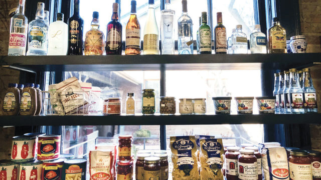 8 restaurants with stocked shelves